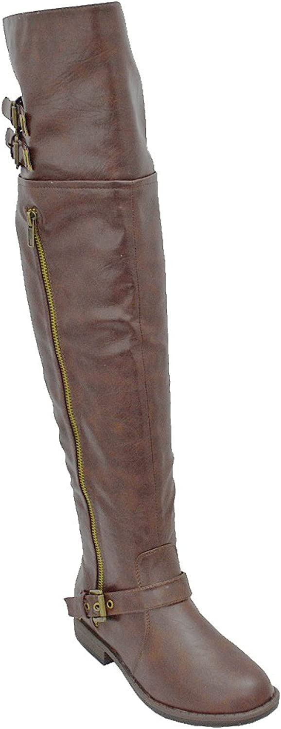 Bamboo Women's Montage 83 Riding Boots with Zipper