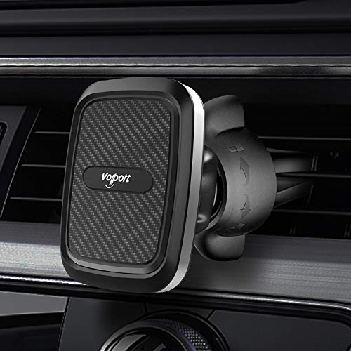 Soporte Magnético para Teléfono Móvil, con Rotación de 360°, con Cierre de Giro Ajustable, incluye 3 Placas de Metal para Soporte de Rejilla de Ventilación de Coche, compatible con Smartphones