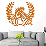 ASFGA Dumbbell Muscle Fitness Club Decal Gym Sticker decoración Poster Vinilo Decoracion Wall Decal decoración Mural Car Gym Sticker Sport 58x67cm