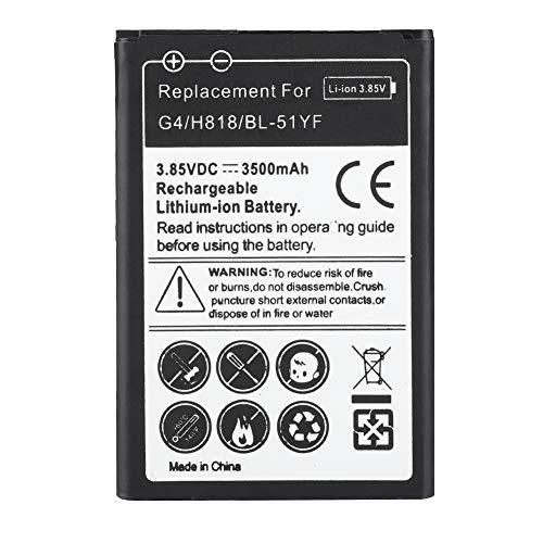 ASHATA Batería de Repuesto de Teléfono Móvil Batería de Litio Ecológica para LG G4 / H818 / BL-51YF 3500mAh 3.85V