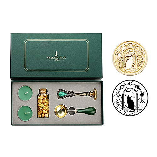 rigensei Box Kit with Sealing Wax Beads Spoon Stamp Set DIY Scrapbooking Tools (18)
