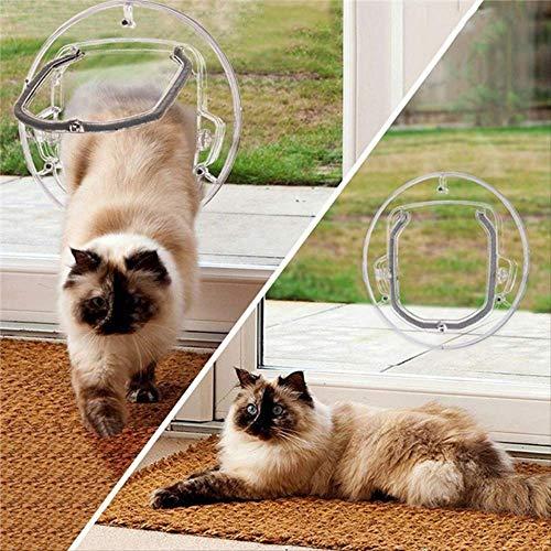NRYBH Katzenklappe Innentür Runde Glastür Hund Katze Haustier Sicherheit Klappe Türen Tore Rampen Mit Teleskop Tunnelrahmen Für Katzen Kleiner Hund