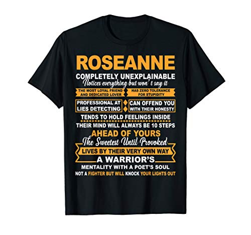 ROSEANNE is lifestyle Completely Unexplainable Name T-shirt