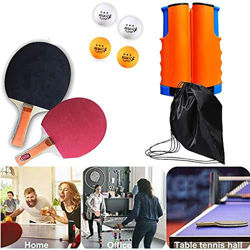 Great Deal! LYU Table Tennis Set, Ping Pong Paddle Set, Balls, Table Tennis Accessories with Retract...