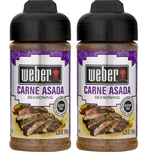 Weber Carne Asada Seasoning ( Pack of 2 ) (Best Carne Asada Fries In Las Vegas)