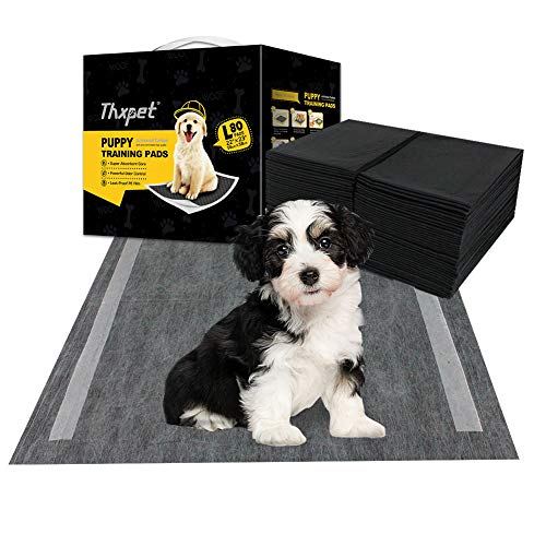 Thxpet Pet Puppy Pads Black Activated Carbon 22' by 23' Dog Pee Potty...