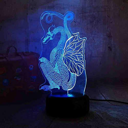 CDBAMX Dierlijke zitten, vliegsaurus, draak, nieuw 3D led nacht legging, dubbele kleuren, Kerstmis, kinderen, cadeau, wooncultuur, bureaulamp