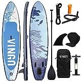VINGO Tabla de surf de remo, hinchable, 330 x 76 x 15 cm, estable y ligera, accesorio de remo, para principiantes y experimentados