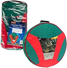 Camerons Products Christmas Wreath Storage Bag with Handles - Water and Tear Resistant, Heavy Duty Woven Construction - (2...