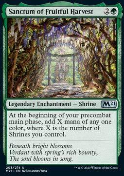 Magic: the Gathering MTG - Sanctum of Fruitful Harvest - Core 2021...