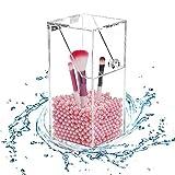 Teabelle Organizador de Cepillos brochas de Maquillaje acrílico Transparente a Prueba de Polvo para...