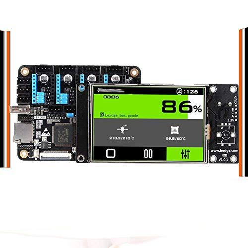 Accesorios de impresora Placa de impresora 3D LERDGE-X de 32 bits apta para piezas de placa de control Placa base con placa base STM32 ARM de 32 bits Tmc2208 Lv8729 TMC2209 (Tamaño: X Sin controlador