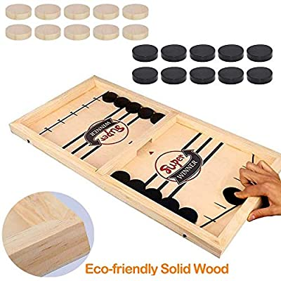 Tinfence Fast Sling Puck Game Paced, Table Desktop Battle,Winner Board Games Toys for Adults Parent-Child Interactive Chess Toy Board Table Game (22.7 in x 12.5 in)