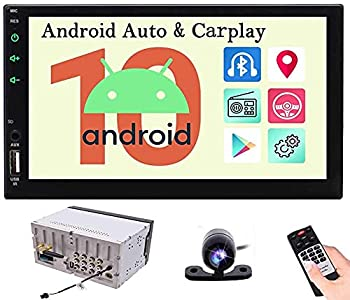 Android Auto Double Din Car Stereo with Backup Camera Carplay Head Unit Android 10 Bluetooth Car Radio Touch Screen 2 Din 7 Inch GPS Auto Radio Multimedia Receiver In Dash Car Audio System DSP WIFI