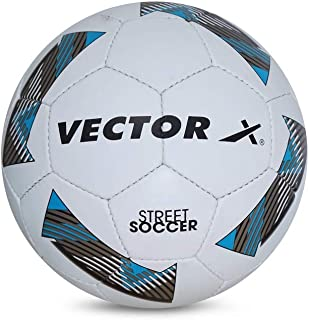 Vector X Street-Soccer Football, Adult (White/Blue)