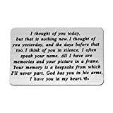 PLITI Sympathy Gift I Thought of You Today But That is Nothing New Sympathy Keychain God Has You in His Arms I Have You in My Heart Memorial Gifts for Loss of Loved One (i Thought of You Card)