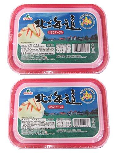 Y101676-1P フタバ 北海道 いちごマーブルアイスクリーム 2000ml×2個