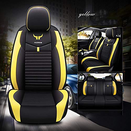 LUOLONG Deluxe Lederen autostoelhoes Voor volvo v50 v40 s40 v60 s80 xc90 2007 s60 2012 xc60 xc40 xc70 accessoires stoelhoezen voor auto's Yellow standard