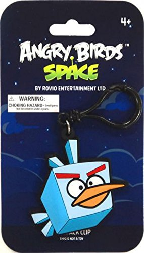 Commonwealth Toys Angry Birds Space Ice Bird PVC Backpack Clip