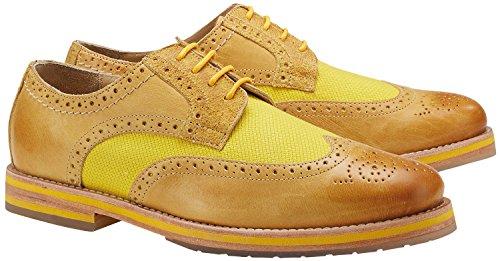 Wellensteyn Schuhe Malhony Vintage poliertes Leder (43, gelb)