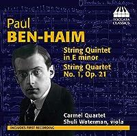 パウル・ベン=ハイム:弦楽のための室内音楽集(Paul Ben-Haim: Chamber Music for Strings)