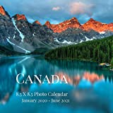 Canada 8.5 X 8.5 Photo Calendar January 2020 - June 2021: 18 Monthly Mini Picture Book| Cute 2020-2021 Year Blank At A Glance Monthly Colorful Desk ... (Awesome Country Photograph Desk Calendars)