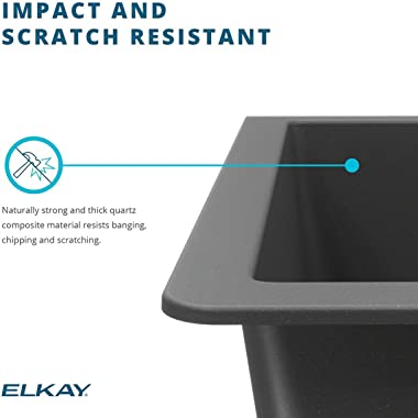 Elkay Quartz Classic ELGU2522WH0 Single Bowl Undermount Sink, White