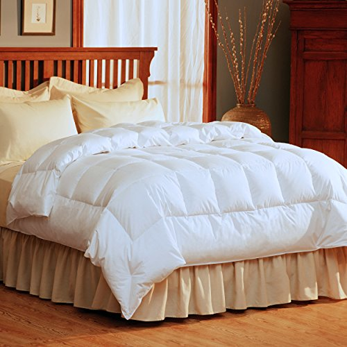 GoLinens Pacific Coast SuperLoft Down Comforter with 100% Cotton Barrier...