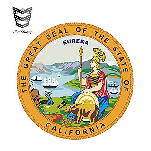 N/X YDBDB 13cm x 13cm Auto Styling Waterdichte California Seal Sticker voor Bumper Tool Box Deur Helm Gitaar Laptop Auto Truck