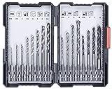 kwb 108950 108950 L 16-teilige Bohrer-Box m. Sechkant-Schaft, 8 x HSS Metallbohrer, HM-Steinbohrer...