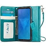 J&D Compatible pour Coque LG Q6, [Stand de Portefeuille] Etui Portefeuille de Protection Antichoc...