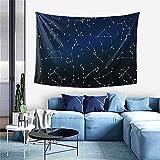 Tapiz de lavanda degradado Tapiz para colgar en la pared Decoración del hogar Cortina de puerta para dormitorio Sala de estar al aire libre-60 * 40 '- Distribución de estrellas