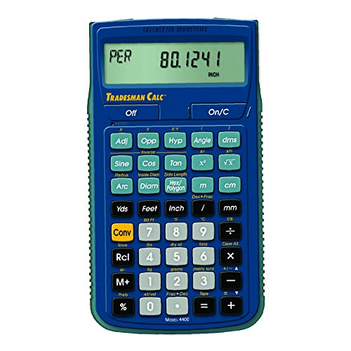 Calculated Industries 4400 TradesmanCalc Technical Trades Dimensional Trigonometry and Geometry Math and Conversion Calculator Tool for Tech Students, Welders, Metal Fabricators, Engineers, Draftsmen