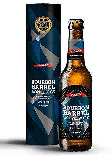 CRAFTBIER DES JAHRES 2017 (Meininger Award)!!! VULKAN Bourbon Barrel Doppelbock/tiefster Bierkeller der Welt/Craftbier/Craftbeer/Holzfass gereift / 0,33l Flasche / 9,5% / 45,15€ je l