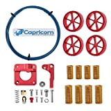Skouphy Creality Upgrade 3D Printer Kit with Capricorn Premium XS Bowden Tubing 1M, 4 PCS Aluminum Hand Twist Leveling Nut, Aluminum Ender 3 Extruder and 4 PCS Hot Bed Die Springs for Ender 3/3 Pro