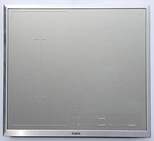 AEG HK653320XS Flexzone 3 - Placa de inducción con 3 campos, color plateado, blanco y gris