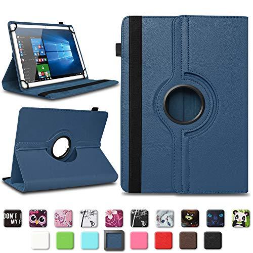 na-commerce Tolino Tab 8 Tablet Hülle Tasche Schutzhülle Case Cover 360° Drehbar Kunst-Leder, Farben:Blau