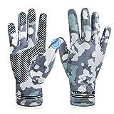 Cycling Fishing Gloves,UV Protection Full Finger Touch Screen Cooling Gloves UPF50+ Sun Gloves,Non-Slip Gym Gloves for Kayaking,Hiking,Paddling,Fitness,Climbing,Workout, Driving,Golf(Men & Women)