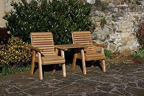 Garden Furniture/Patio Set High Back Roll Top Companion Seat Bench Solid Woo