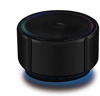 YANTING Bluetooth Speaker Mini Bluetooth Audio Metal Subwoofer Wireless Card Cannon Mobile Phone Audio Game Audio (Color : Upgraded black)