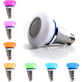Atmosphere Creation with 24 Keys Remote Control Wireless Stereo Party Color Remote Control DGRENA LED Wireless Light Bulb Speaker RGB Disco Bluetooth Light Bulb,Speaker Color Conversion Light