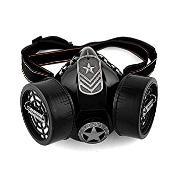 New Star Steampunk Gothic Gas Mask Cosplay Respirator Accessories Black