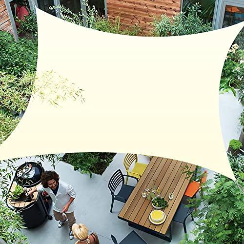 Awroutdoor 2 x 3 m Tenda a Vela Rettangolare, Tende da Sole per Esterno Protezione Raggi UV, Tenda Parasole Vela Ombreggiante Impermeabile e Resistente per Giardino Balcone Terrazza