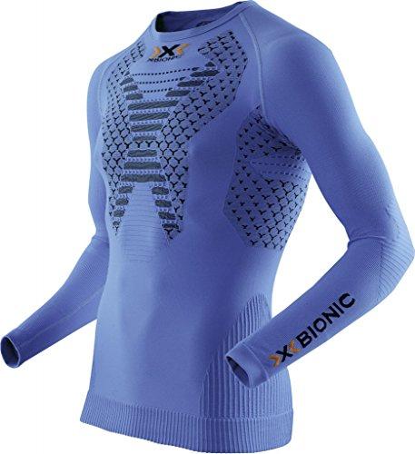 X-Bionic Twyce Running O100595 T-shirt de course à manches longues pour homme Bleu