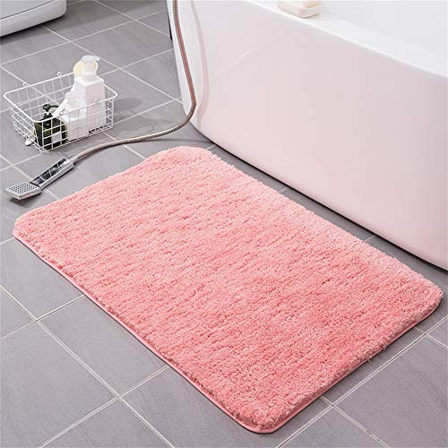 GRZHJK Non Slip Shaggy Bathroom Rug,Soft Plush Bath Mat Anti Slip,EXTRA ABSORBENT Carpet Microfiber Bath Rug Machine Washable For Bath Tub Shower Bathroom