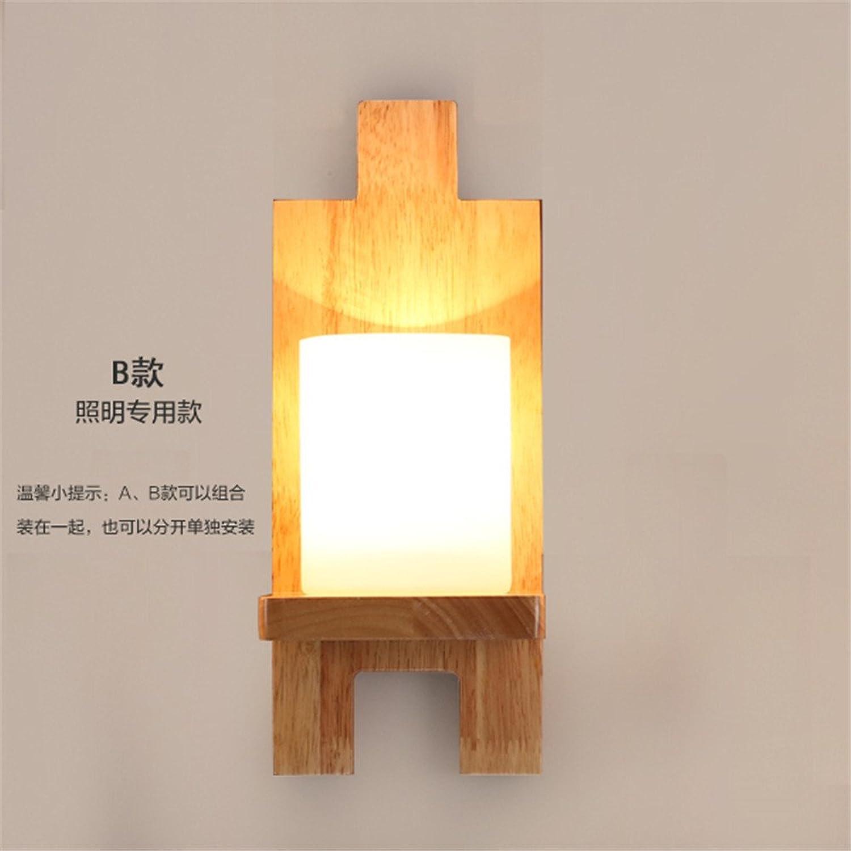 StiefelU LED Wandleuchte nach oben und unten Wandleuchten Hotel arbeitet Holz Wandleuchte Schlafzimmer Nachttischlampe Balkon über Verkehrskorridor led Wandleuchte