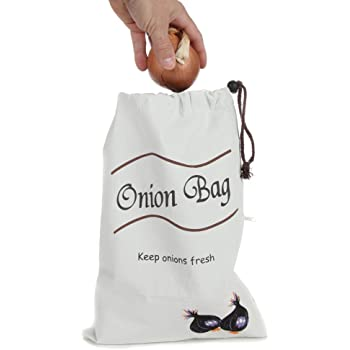 Hessian Onion Preserving Bag With Blackout Lining KitchenCraft JVOS