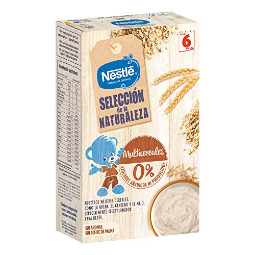 Nestlé Selección De La Naturaleza Papilla Multicerales, A Partir De Los 6 Meses - Pack de 6 estuches 330 g