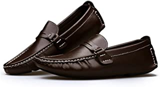 Termee Men Loafer Shoes Boat Shoes Peas Shoes Slip On Flats Walk Drive Moccasins British Style