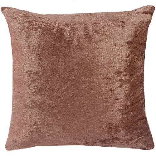 Unitysow Terciopelo de Hielo Funda de Cojine Funda de Almohada del Sofá Throw Cojín Decoración Almohada Caso de la Cubierta Decorativopara Sala de Estar Cojín 55 x 55 cm Rosa Profunda